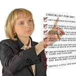 Presentation of SEO checklist — Stock Photo #10749213
