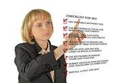 Seo kontrol listesi sunulması — Stok fotoğraf