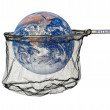 World in the net as a symbol of internet - Stock Photo