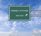 Road sign to friendly attitude — Stock Photo