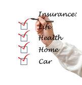Lista de seguro — Fotografia Stock