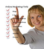 Online marketing tools — Stock Photo
