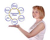 Schemat planu finansowego — Zdjęcie stockowe