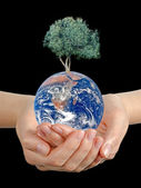 Gift of Earth.Elements of this image furnished by NASA — Stock Photo