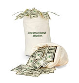 Bag with unemployment insurance — Stock Photo