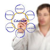 Kariyer başarı diyagram — Stok fotoğraf
