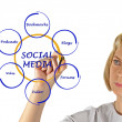 Diagram of social media — Stock Photo