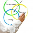 Presentation of diagram of sustainability — Foto de Stock