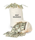 Bag with rent insurance — Stock Photo
