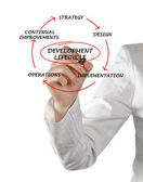 Diagram of development lifecycle — Foto de Stock
