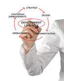 Diagram of development lifecycle — 图库照片