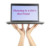 Photoshop is a girl's best friend — Stock Photo