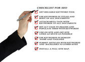 Presentation of SEO checklist — Stock Photo