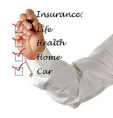 Insurance list — Stock Photo