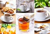 Tea collage — Stock Photo