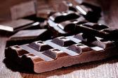 Schokolade stücke — Stockfoto