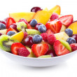 Salad with fresh fruits and berries — Stock Photo
