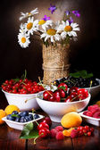 Still life with fruits and berries — Stock Photo