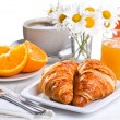 Breakfast with croissants — Stock Photo #11784962