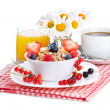 Breakfast with cereals — Stock Photo