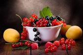 Fresh fruits and berries — Stock Photo