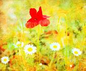 花グランジ イメージ — ストック写真