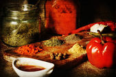 Red textured spice — Stock Photo