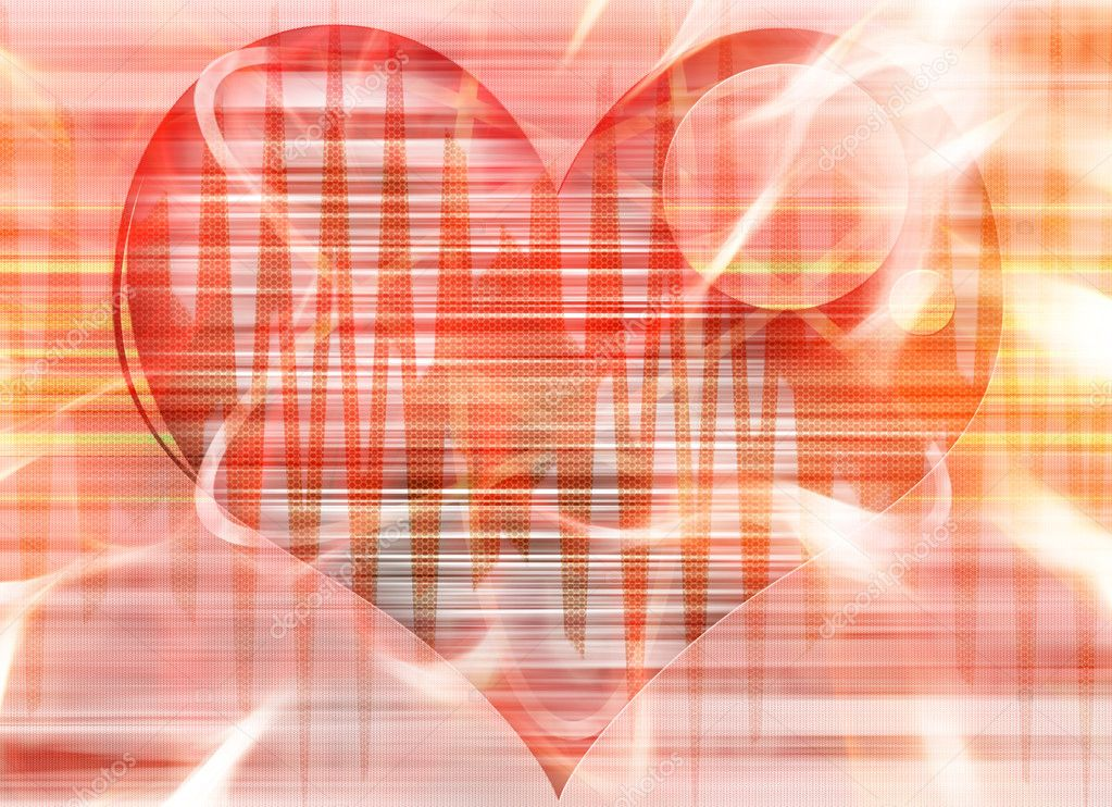 Abstract modern red heart background for card design or wallpaper — Stock Photo #11394336