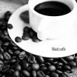 Black coffe — Stock Photo