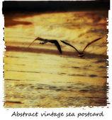 винтаж море открытка — Стоковое фото