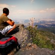 Man in high mountain — Stock Photo