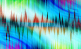 Colored sound background — Stock Photo