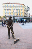 Sweeper sculpture — Stock Photo