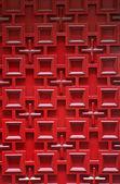 Red wooden door — Stock Photo