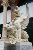 Madrid Wing lion — Stock Photo