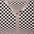 Empty martini glass — Stock Photo