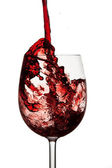 Red wine in crystal wine glass — Foto Stock