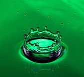 Green water crown — Stock Photo