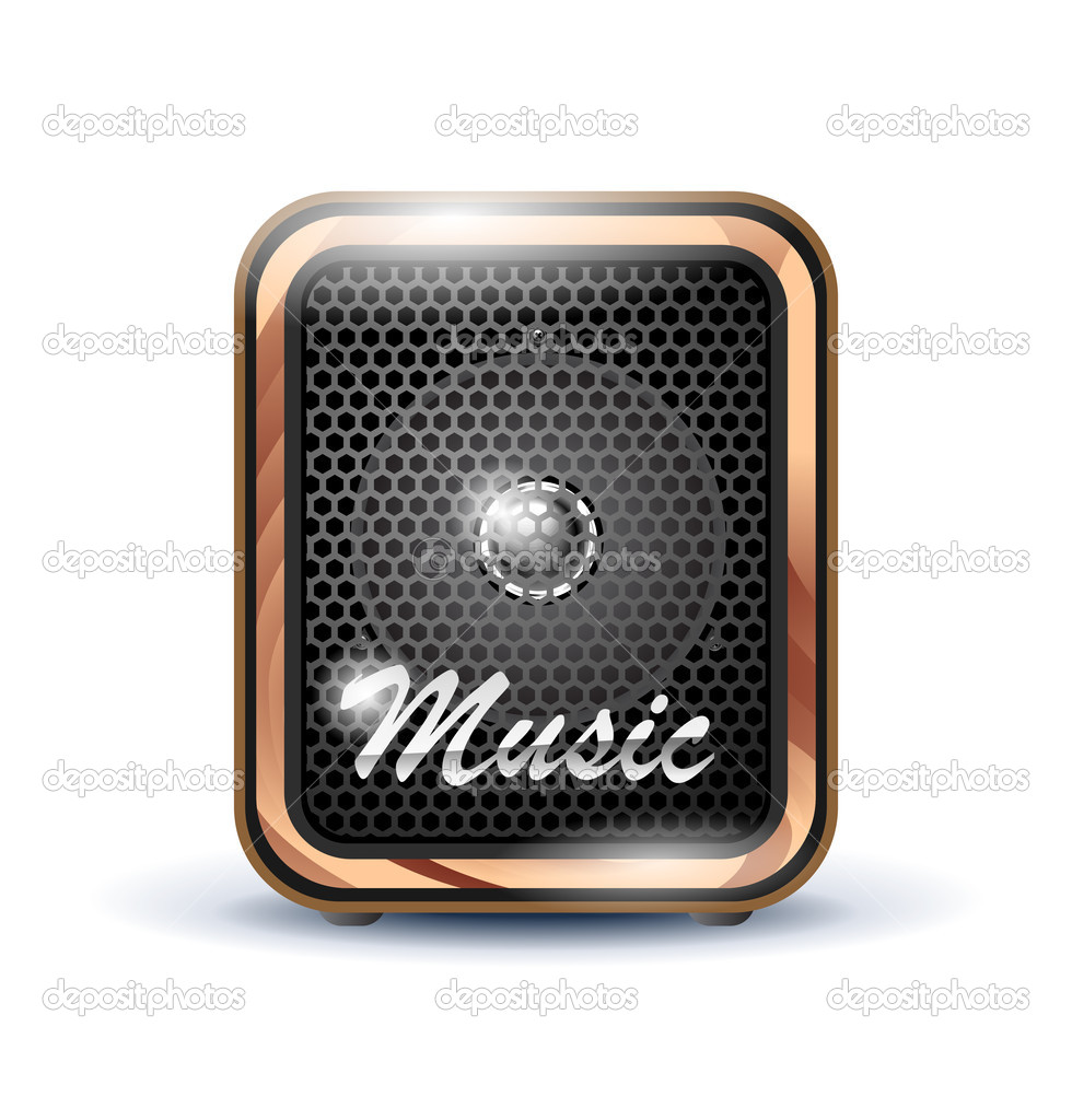Amplifier speaker icon on white — Stock Vector #10759595