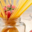 Fresh tomato and spaghetti pasta — Stock Photo #11462098