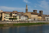 Florence - buildings along the Arno River — Stock Photo