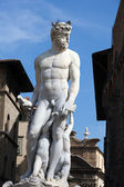Флоренция - статуя Нептуна — Стоковое фото