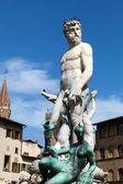 フィレンツェ ネプチューンの像 — ストック写真