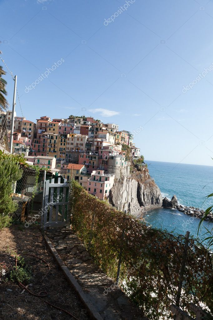 Manarola - one of the cities of Cinque Terre in italy  Stock Photo #11421923