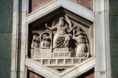 Florence - The hexagonal Relief on the Giottos' Campanile — Stock Photo
