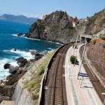 Railway station of Manarola in Cinque Terre — Stock Photo #11530717