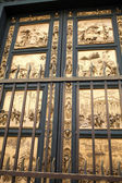 Florence - Baptistery , Panel of the Door of Paradise — Stock Photo