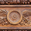 Florence-Wooden door of the Basilica of Santa Croce — Stok fotoğraf