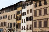 Florence - beautiful, historic tenements at Piazza Santa Croce — Stock Photo
