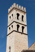 Tornet av minerva-templet i assisi, italien. — Stockfoto